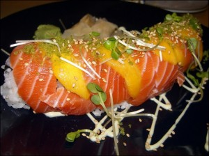 salmon and mango by Sklathill on flickr